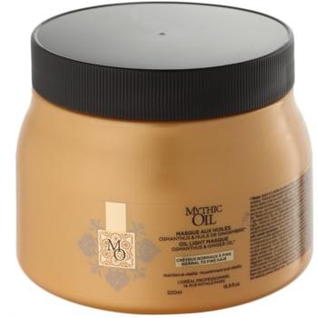 L'Oréal Professionnel Mythic Oil masque léger à l'huile pour cheveux normaux à fins sans parabènes ni silicones (Oil Light Masque - Osmanthus and Ginger Oil) 500 ml