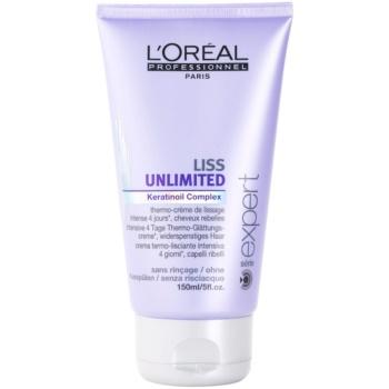 L'Oréal Professionnel Série Expert Liss Unlimited crème lissante pour cheveux indisciplinés et frisottis (Smoothing Thermo Cream) 150 ml