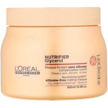 L'Oréal Professionnel Série Expert Nutrifier masque nourrissant pour chevex secs et abîmés sans silicone (Glycerol) 500 ml