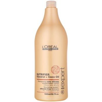 L'Oréal Professionnel Série Expert Nutrifier shampoing nourrissant pour chevex secs et abîmés sans silicone (Glycerol + Coco Oil) 1500 ml
