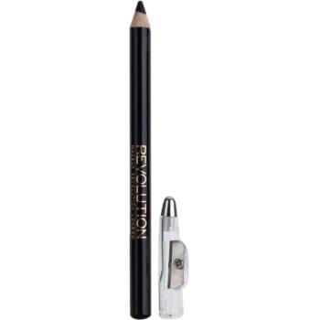 Makeup Revolution Color crayon yeux avec taille-crayon teinte Black 1 g