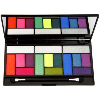 Makeup Revolution Pro Looks Eat Sleep Makeup Repeat palette de fards à paupières (3 Looks In 1 Palette) 13 g