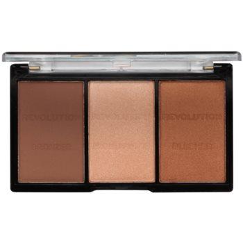Makeup Revolution Ultra Sculpt & Contour palette contour de visage teinte 04 Ultra Ligt/Medium 11 g
