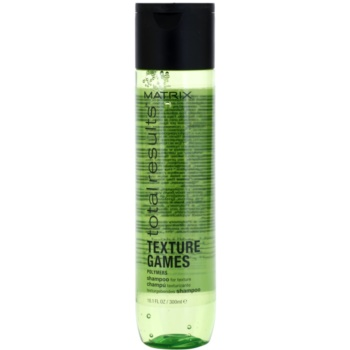 Matrix Total Results Texture Games shampoing texturisant aux polymères (Helps Boost Texture for Style Definiton, Hair feels Texturized and Primed for Styling) 300 ml