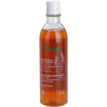 Melvita Hair shampoing nettoyant doux pour cheveux gras Lemon & Rosemary Essentials Oils (Sulfate Free) 200 ml