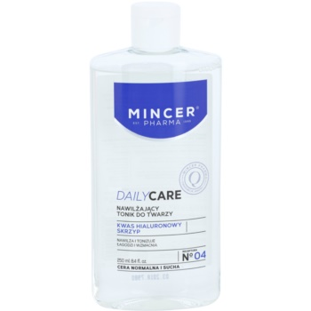 Mincer Pharma Daily Care N° 00 lotion tonique hydratante visage N ° 04 (Hyaluronic Acid, Horsetail) 250 ml