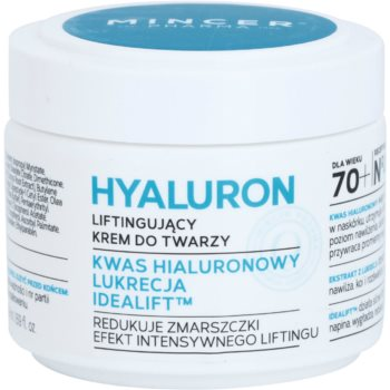 Mincer Pharma Hyaluron N° 400 crème liftante visage 70+ N° 404 (Hyaluronic Acid, Liquorice, Idealift) 50 ml