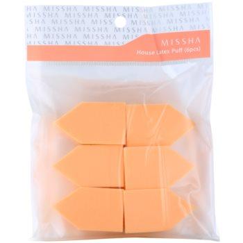 Missha Accessories éponge à maquillage 6 pcs (House Latex Puff)