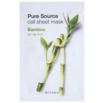 Missha Pure Source masque tissu hydratant et revitalisant Bamboo 21 g