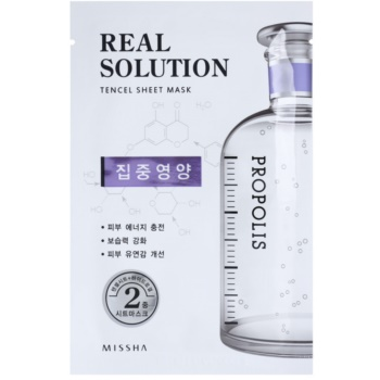 Missha Real Solution masque tissu revitalisant (with Propolis) 25 g