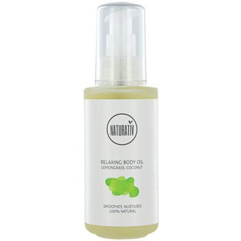 Naturativ Body Care Relaxing huile corporelle pour une peau hydratée et raffermie Lemongrass, Coconut (Vegan Cosmetic) 125 ml
