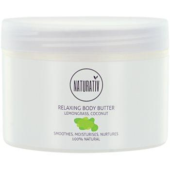 Naturativ Body Care Relaxing beurre corporel effet lissant Lemongrass, Coconut (Vegan Cosmetic) 250 ml