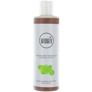 Naturativ Body Care Relaxing gel de douche à la glycérine Lemongrass, Coconut (Vegan Cosmetic) 280 ml