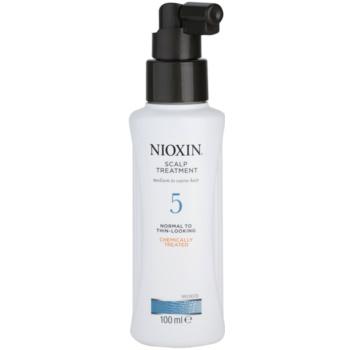 Nioxin System 5 traitement cuir chevelu anti-amincissement modéré des cheveux normaux à forts, naturels et traités chimiquement (Scalp Treatment Medium to Coarse Hair Normal to Thin-Looking) 100 ml