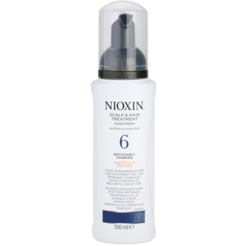 Nioxin System 6 traitement cuir chevelu anti-amincissement stade avancé des cheveux normaux à forts, naturels et traités chimiquement (Scalp & Hair Treatment Sunscreen Medium to Coarse Hair Noticeably Thinning) 100 ml