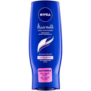 Nivea Hairmilk après-shampoing traitant pour cheveux fins 200 ml