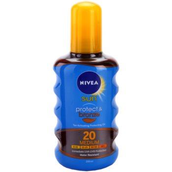 Nivea Sun Protect & Bronze huile sèche solaire SPF 20 (Sun Spray) 200 ml