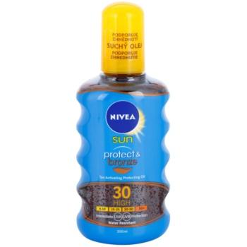 Nivea Sun Protect & Bronze huile sèche solaire SPF 30 (Sun Spray) 200 ml