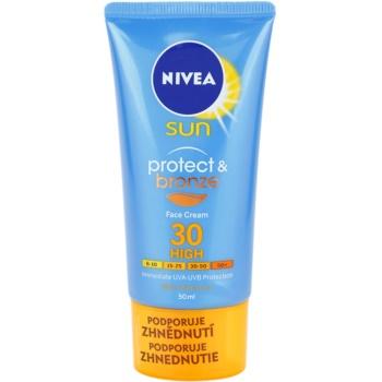 Nivea Sun Protect & Bronze crème solaire intense visage SPF 30 (Sun Cream) 50 ml
