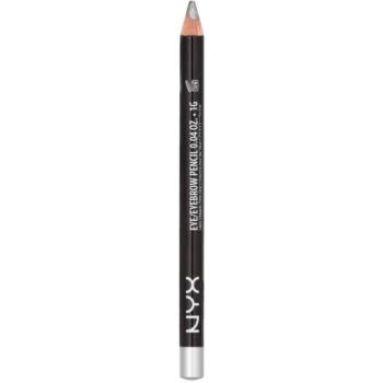 NYX Professional Makeup Slim crayon yeux et sourcils teinte Silver 1 g