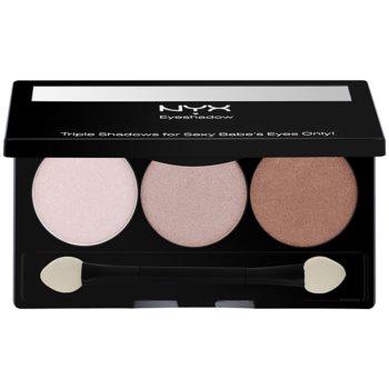 NYX Professional Makeup Triple palette de fards à paupières teinte 15 Aloha/Mink Brown/Deep Bronze 2,1 g