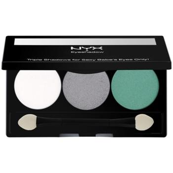 NYX Professional Makeup Triple palette de fards à paupières teinte 16 Opal/Platinum Silver/Luster 2,1 g