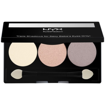 NYX Professional Makeup Triple palette de fards à paupières teinte 19 Barely There/Champagne/Root Beer 2,1 g