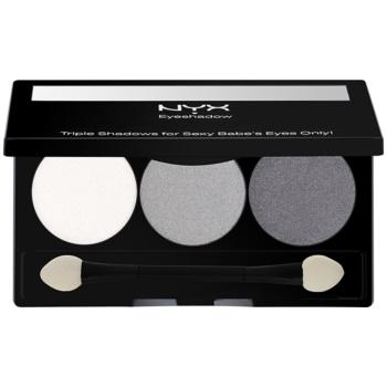 NYX Professional Makeup Triple palette de fards à paupières teinte 20 White Pearl/Silver/Charcoal 2,1 g
