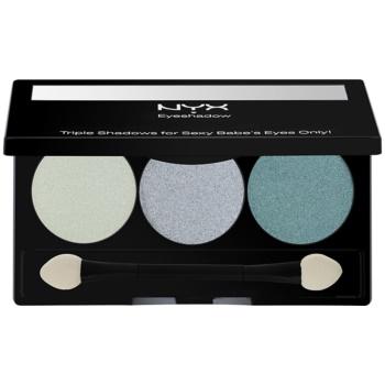 NYX Professional Makeup Triple palette de fards à paupières teinte 23 Sweet Lagoon/Aqua/Ocean 2,1 g