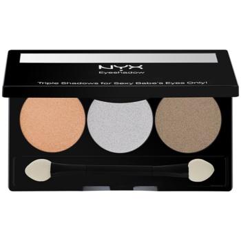 NYX Professional Makeup Triple palette de fards à paupières teinte 32 Olive Grove 2,1 g