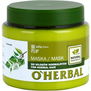O'Herbal Betula Alba masque pour cheveux normaux (Healthy-Looking Hair) 500 ml
