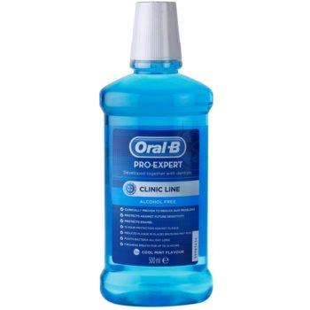 Oral B Pro-Expert Clinic Line bain de bouche sans alcool saveur Cool Mint Flavour 500 ml