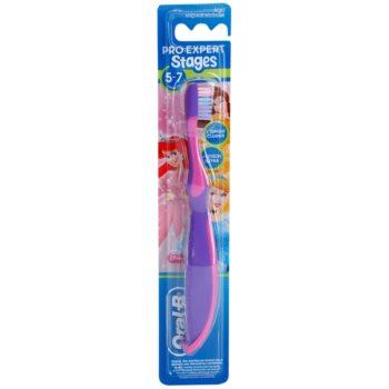 Oral B Stages 3 brosse à dents pour enfants soft Pink & Violet (5-7 Years Princess)
