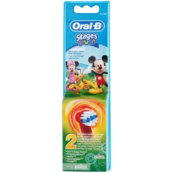 Oral B Stages Power EB10 Mickey Mouse têtes de remplacement pour brosse à dents extra soft (For Boys) 2 pcs
