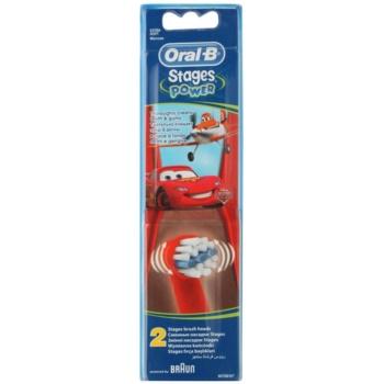 Oral B Stages Power EB10 Cars têtes de remplacement pour brosse à dents extra soft (For Boys) 2 pcs