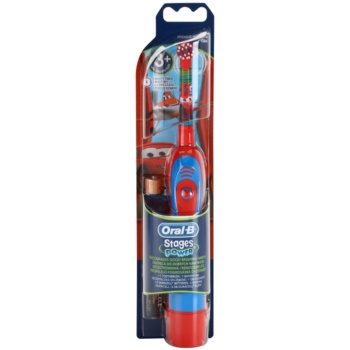 Oral B Stages Power DB4K Cars brosse à dents à piles enfant soft (For Kids 3+ Years)