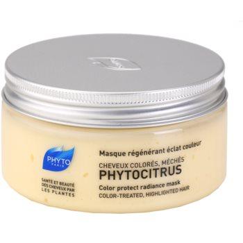 Phyto Phytocitrus masque illuminateur pour cheveux colorés (Color Protect Radiance Mask) 200 ml