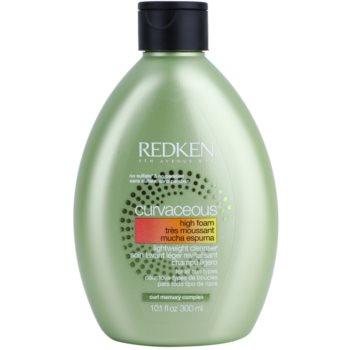 Redken Curvaceous shampoing crème pour cheveux bouclés ou permanentés High Foam, Sulfate & Paraben Free (Lightwight Cleanser for All Curl Types) 300 ml