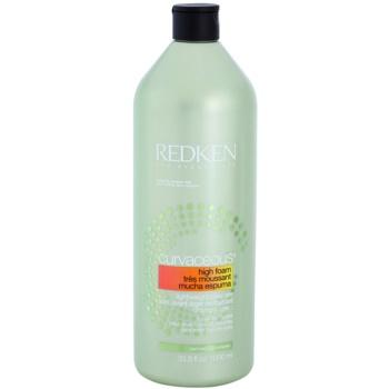 Redken Curvaceous shampoing crème pour cheveux bouclés ou permanentés High Foam, Sulfate & Paraben Free (Lightwight Cleanser for All Curl Types) 1000 ml