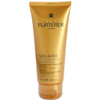 Rene Furterer Solaire masque nourrissant intense pour cheveux exposés au chlore, au soleil et à l'eau salée (With Jojoba Wax) 100 ml