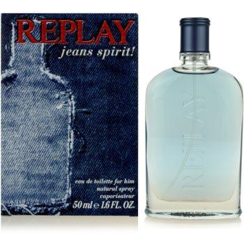 Replay Jeans Spirit! For Him eau de toilette pour homme 50 ml