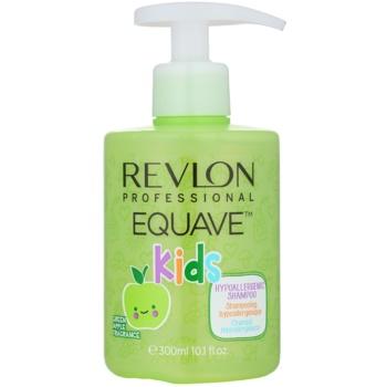 Revlon Professional Equave Kids shampoing hypoallergénique 2 en 1 pour enfant à partir de 3 ans (Green Apple Fragrance) 300 ml