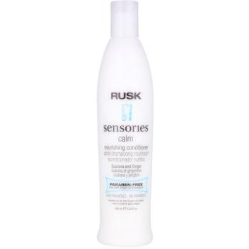 Rusk Sensories Calm après-shampoing apaisant pour des cheveux faciles à démêler sans parabène (Guarana&Ginger) 400 ml