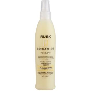 Rusk Sensories Brilliance après-shampoing sans rinçage en spray pour cheveux colorés et sensibilisés sans parabène (Grapefruit&Honey) 250 ml