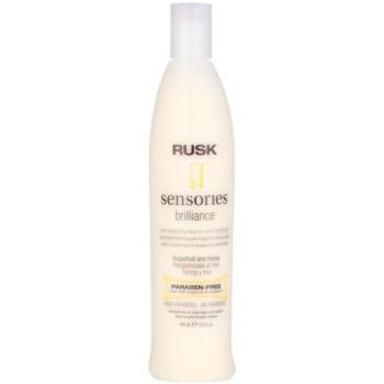 Rusk Sensories Brilliance après-shampoing crème sans rinçage pour cheveux colorés et sensibilisés sans parabène (Grapefruit&Honey) 400 ml