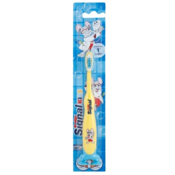 Signal Kids brosse à dents pour enfants Yellow (From The 1 St Tooth)