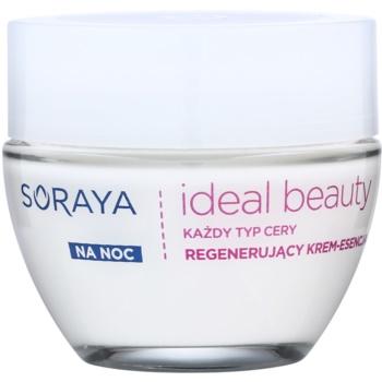 Soraya Ideal Beauty crème de nuit régénérante pour tous types de peau (Perfect Skin Complex and Rose Oil) 50 ml