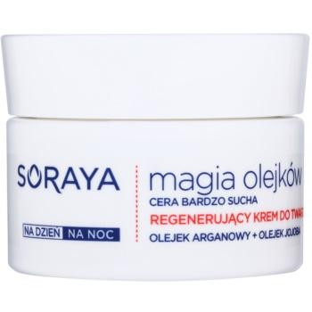 Soraya Magic Oils crème régénérante pour peaux très sèches (Argan and Macadamia Oils) 50 ml