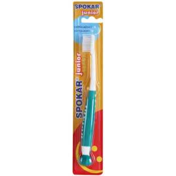 Spokar Junior brosse à dents pour enfants extra soft Green & White (For Kids 7 – 12 Yers)
