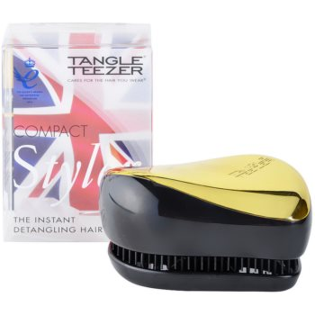 Tangle Teezer Compact Styler brosse à cheveux (Gold Sizzle Instant Detangling Hairbrush)